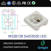 LED Light Source WS2811 DC5V input 5050 SMD RGB with WS2812b ic built-in led digtial strip