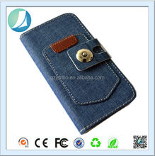 Jeans Belt buckle Leather Case With Window for iphone 5