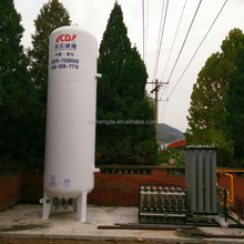cryogenic LNG storage tank with ambient air vaporizer