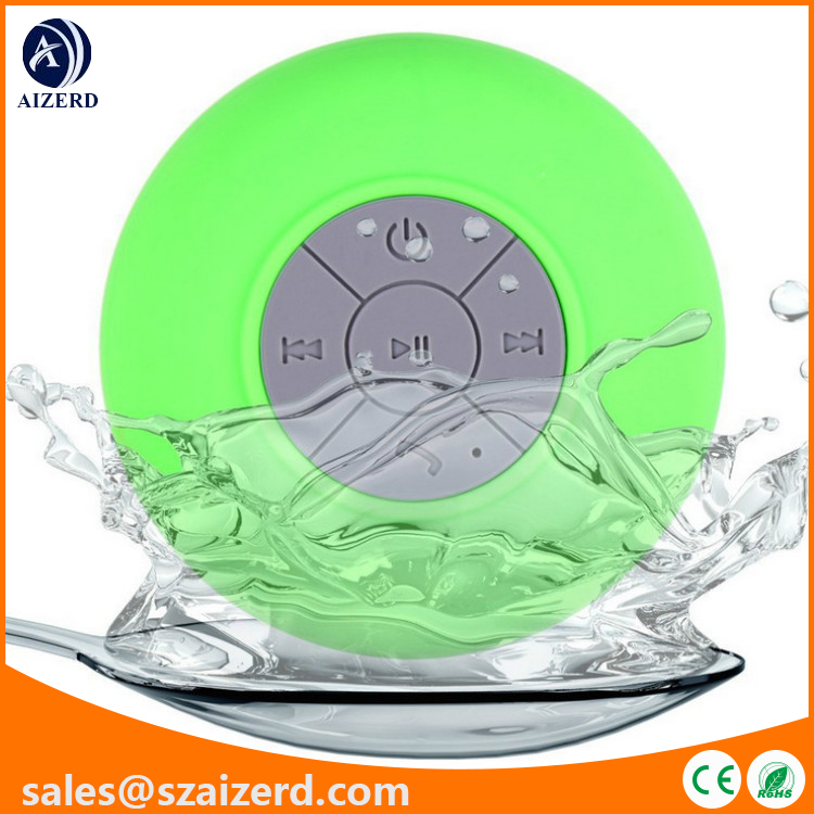 Suction Cup Bluetooth Speaker with Waterproof Function