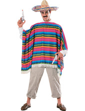 Fantasy party costume hot sale mexican poncho with high quality for adult AGM2381