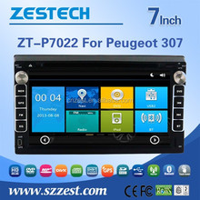Touch Screen Combination and CE,FCC car gps player for peugeot 307 with DVB-T Tuner (optional)