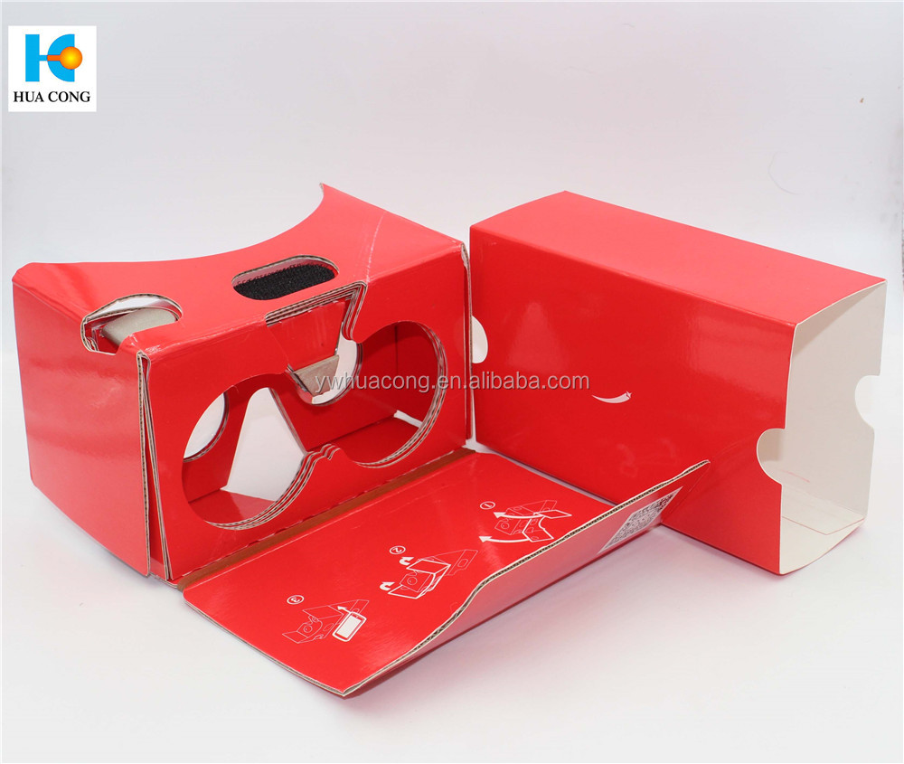 new design high quality vr cardboard with custom print from 100% munufacoturer
