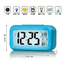 Plastic digital multi alarm clock talking table clock