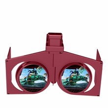 "3D VR BOX Immersive Glasses Google Cardboard Head Mount Helmet Video Phone Case For 4.7-6.0"" iOS Android"