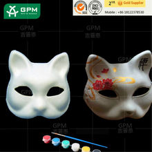 Unpainted Craft White Paper Animal Party DIY Mask for kids