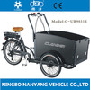 three wheel electric family cargo bike used