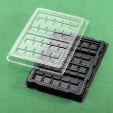 Custom plastic PET blister tray pack with cover