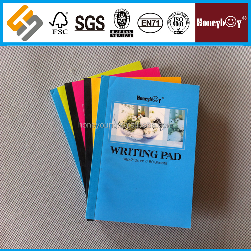 Hot Sale 80 Sheets Colorful Flower Cover Writing Pad