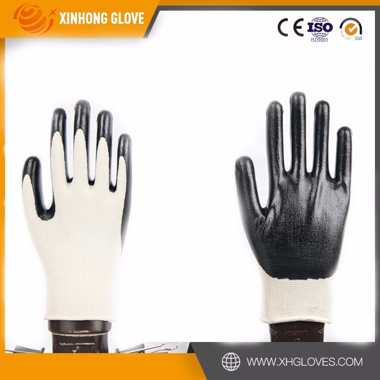 13G polyseter liner, Nitrile Palm Coated Glove, Smooth Surface.safety popular glove