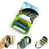 Colorful Stripes Pattern Retractable Pet Dog Leash Strap with Control Button