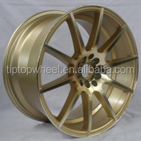 2017 new style rims wheels 17 18 inch 5x114.3 wheel rim Gold colour alloy wheel