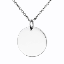 2019 New Arrivals Blank Custom Logo Stainless Steel Round Jewelry Pendant Coin Necklace