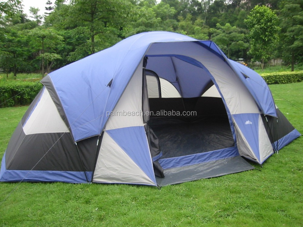 8 persons big comfortable family camping tent with canopy