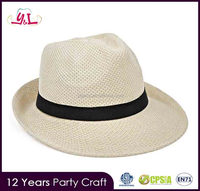2016 Promotional Gift Items Personalized Polyester Hat paper straw hats for summer panama hat cheap