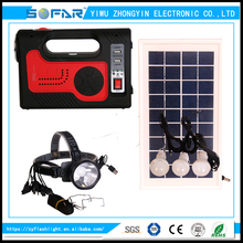 Multifunction Electricail Charger Portable Solar LED Emergency Lighting System With Radio And Mobile Charger