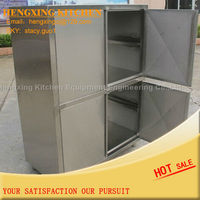 High quality but low price Stainless steel kitchen cabinet for restaurant metal shelf storage shelf