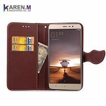 Leather slot wallet stand flip pouch Cover Case for Xiaomi Redmi Note 3 / 3 PRO