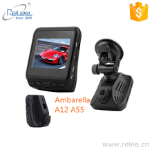 Relee new arrival DVR Full HD 1080P 60fps video recorder car vehicle dash camera Ambarella A12 chipset camera with GPS