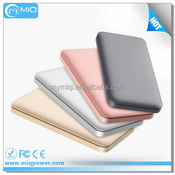 2017 Ultra-Slim Quick Charge 2.0 Power Banks With Metallic Simple Sense Double Input And Double Output 10000mah
