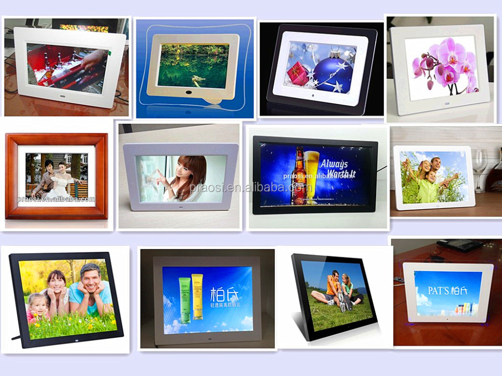 shenzhen pros factory 7 8 9 10 11 12 13 14 15 17 18 19 20 22 23.6 26 inch digital photo picture frame full function wholesale