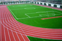 IAAF certificated synthetic rubber running track