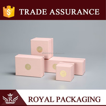Hot sale pink wholesale luxury jewelry packaging box for gift gems stone jewellery pendant packaging