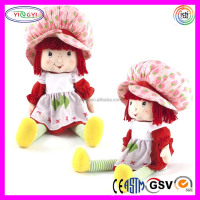 A981 Cartoon Strawberry Stuffed Doll Girl Soft Popular Strawberry Shortcake Doll