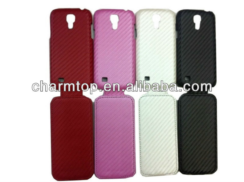 Galaxy S4 Mini Carbon Fiber Flip Case