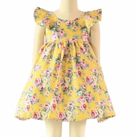 Wholesale colored prints baby frock petti sleeveless girls summer dresses children frocks designs