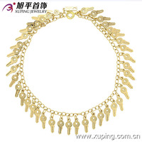 73080-xuping new products wholesale copper 14k gold plated key bracelet models