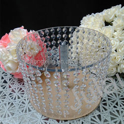 High quality clear crystal cake stand for wedding decorate