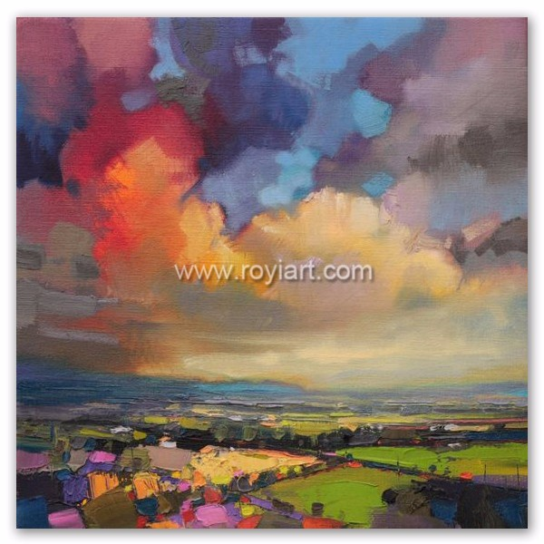 Wholesale handmade abstract oil painting pictures landscape for home decor