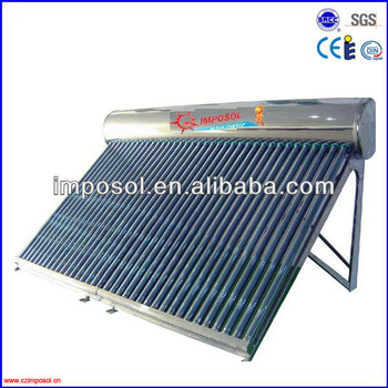 Imposol Projects Green environment solar collector system with pump