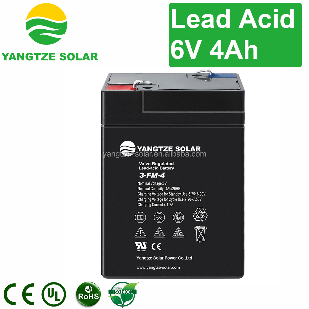 Hot sale 6v 4ah rechargeable lead acid battery