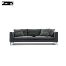 Modern down feather classical 2 3 seat I shape fabric goose down living room sofa
