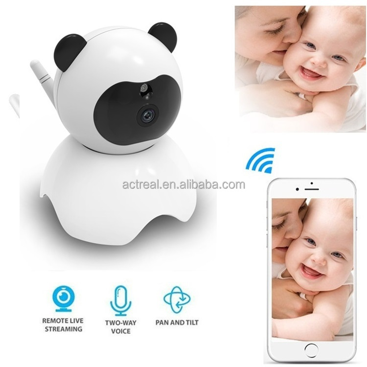 Indoor Wifi IP CCTV <strong>Camera</strong> 720P , Two Way Audio Smart Baby Monitor P2P HD Dome CCTV Security Baby <strong>Camera</strong>