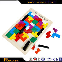Hand held brick games wooden intelligence toys tetris