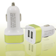 Wholesale Cheap Mini Phone Car Charger, Universal 5V 2.1A 2 Port Dual USB Car Battery Charger