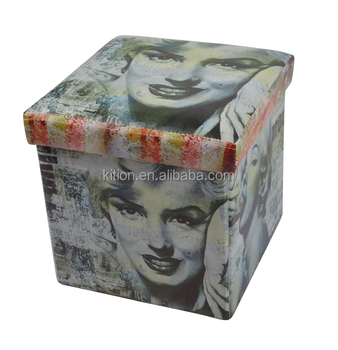 Faux leather storage chest Marilyn Monroe fashion style