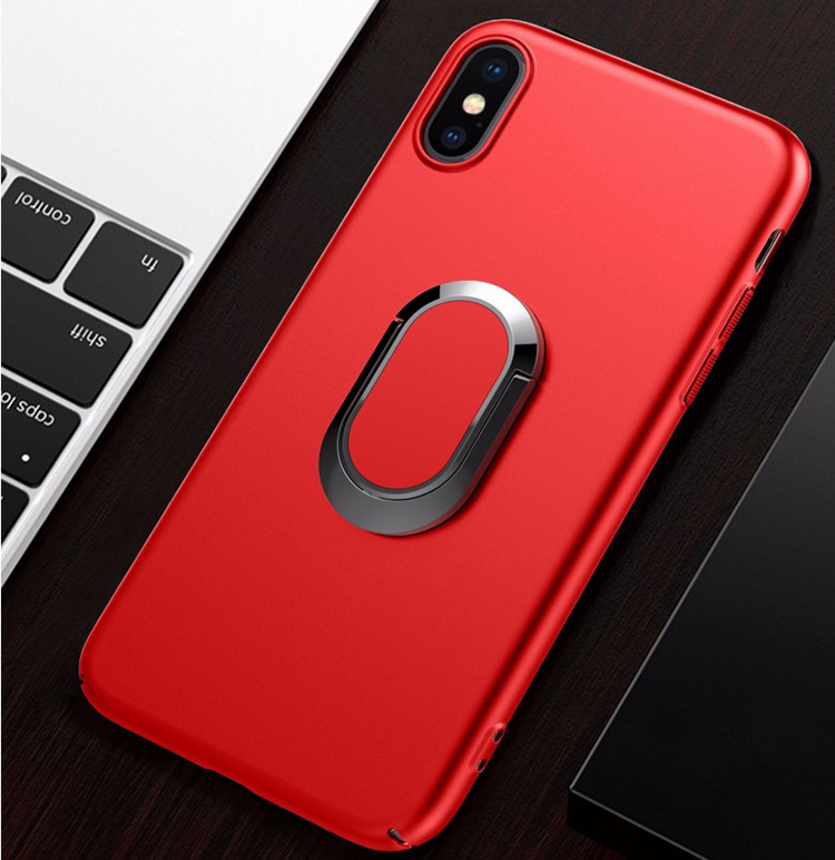 DFIFAN Magnet Ring Stand Mobile Phone Case for Apple iphone X Hard PCl Magnetic Holder Case Shell for iPhone X with stand case