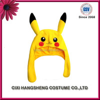 Yellow Pikachu head hood Halloween Costumes For Adult