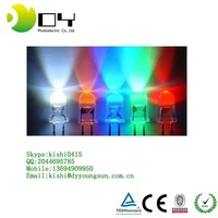 3mm 5mm Assorted Color 2pin Diffused LED Light Emitting Diodes Electronic Parts with 5 Colors