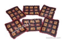 Square beaded/glass set coaster