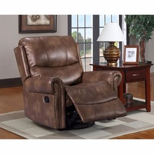 single seater leather sofa recliner bar lounge chair Antique Living room sofa leather