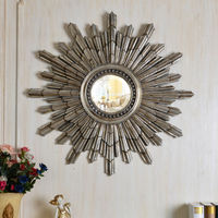 PU286 Living Room Antique Silver Art Wall Decorative Mirrors