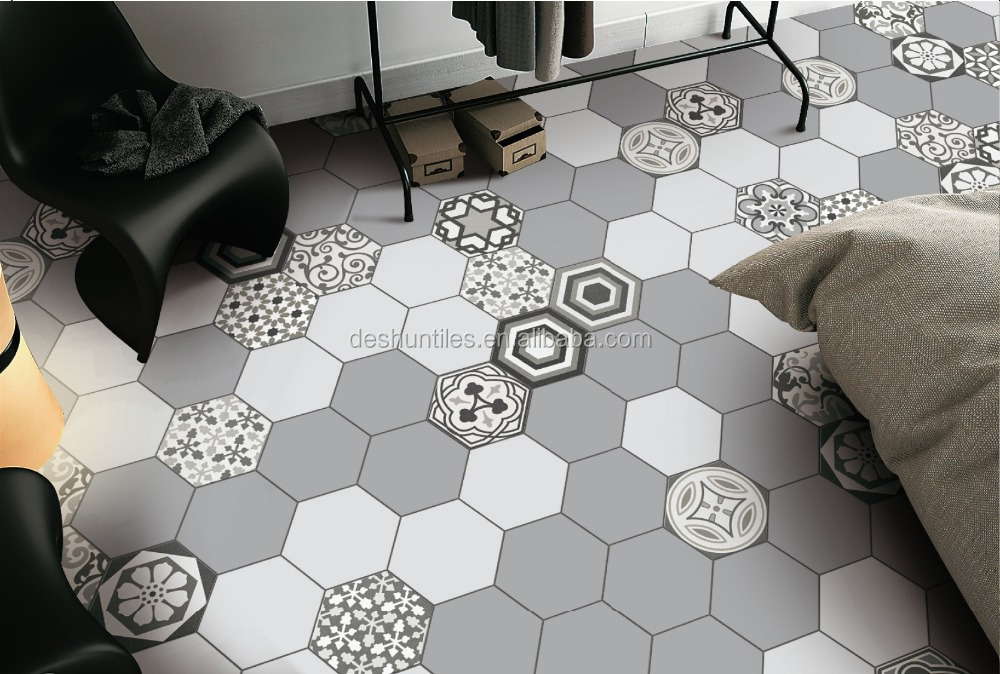 Nice Decorative Grey Color Hexagon Ceramic Tile Wall Tile