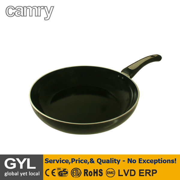 FRYING PAN;28cm diameter wall thickness 4mm bottom thickness 5,3mm even heat distribution, energy-efficient pan frying, easy-cle