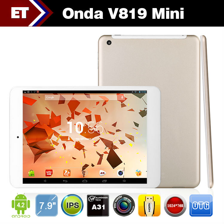Wholesale - Onda V819 Mini pad Quad Core tablet pc 7.9 Inch IPS Screen Android 4.2 Dual Camera WIFI HDMI 1GB RAM 16GB Rom