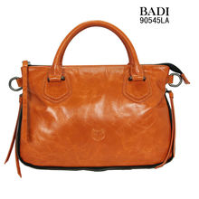 2013 latest hot selling fashionable high quality ladies genuine wax leather tote handbags